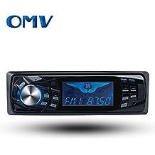 Single Din Car Audio CD MP3 Stereo Radio Player, Front Aux Input Car Audio Speaker (Black) FM Radio Bluetooth12V...