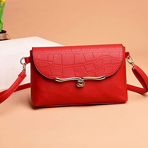Shoulder AgrinTo Bag Crossbody Clearance Vintage Leather Bag Women's Pattern Stone Red Messenger qzt8fRKw