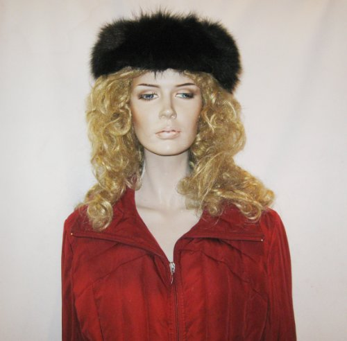 FUR-FOX HEAD BAND FROM CASHMERE PASHMINA GROUP (BLACK)
