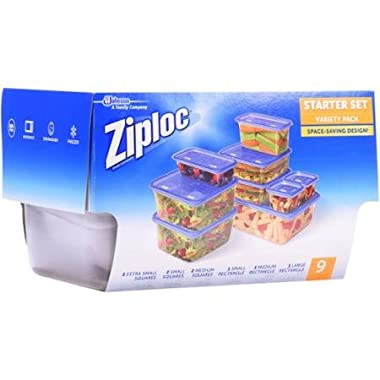 Ziploc Starter Set Containers Variety Pack, 18 pc