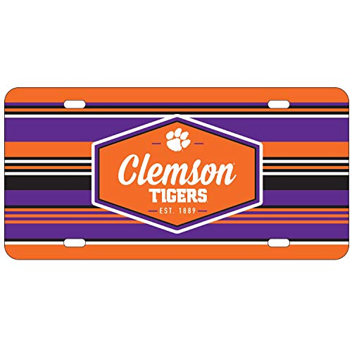 Wincraft Clemson Tigers Official NCAA License Plate Acrylic