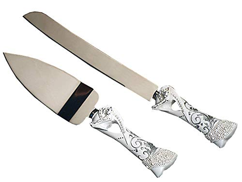 FavorOnline Fairy Tale Design Knife and Cake Server Set with Cinderella Slipper