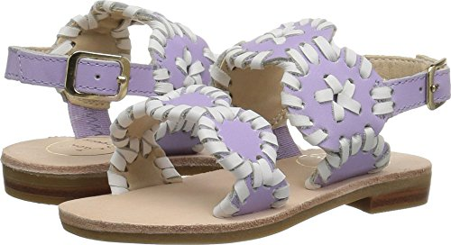 Jack Rogers Girls Miss Lauren Flat Sandal, Lilac/White, for sale  Delivered anywhere in USA