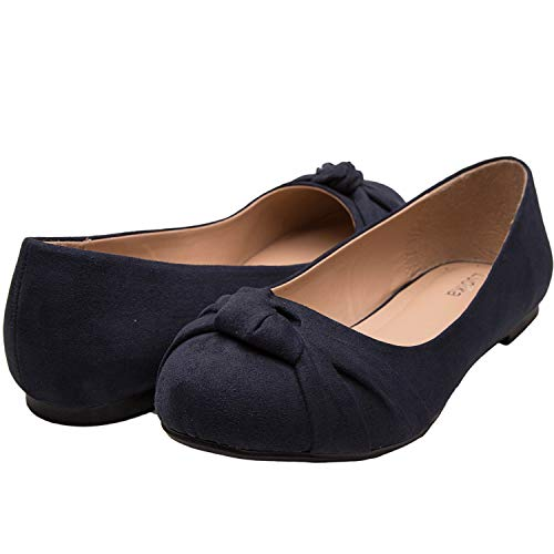 23ee34e028c39 Luoika Womens Wide Width Flat Shoes Shoes Comfortable Adjustable Buckle  Strap Mary Jane Round Toe Ballet ...