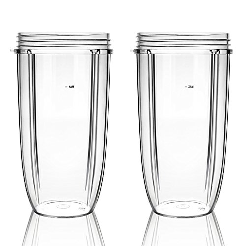 QueenTrade 2PCS 32OZ Large Replacement Cup For Nutribullet 600W & Pro 900W Blender/Mixer (NOT FIT Magic Bullet or Nutri Ninja) by QueenTrade