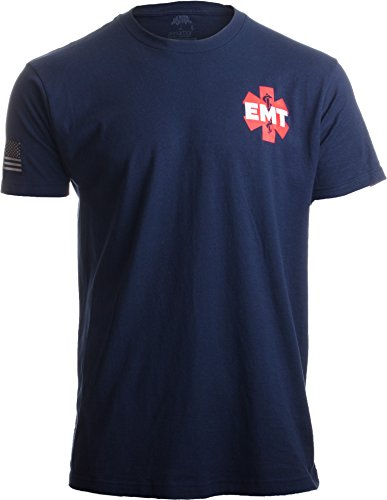 - EMT AEMT Star Life | Medical Paramedic Ambulance Emergency for Men Women T-Shirt-(Adult,XL) Navy Blue