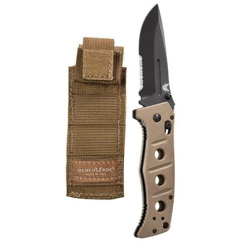 Benchmade Folding Knife, Drop Point, 3-13/16 in, Sand by Benchmade (Image #1)