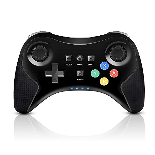 (PowerLead Wireless Controller Gamepad for Nintendo Wii U Rechargeable Bluetooth Dual Analog Game Controller Joystick Gamepad)