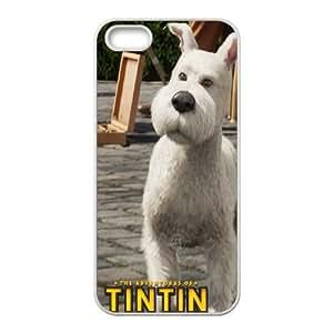 The Adventures Of Tintin 7 funda iPhone 4 4S caja funda del teléfono celular del teléfono celular blanco cubierta de la caja funda EOKXLLNBC25852