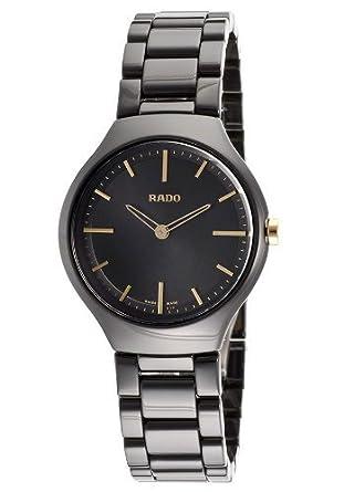 5b9b371964d Amazon.com  Rado True Thinline R27742172 30mm Ceramic Case Black Ceramic  Sapphire Crystal Men s Watch by Rado  Watches
