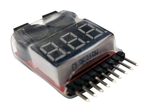 Apex RC Products 2 Pack Lipo Battery Voltage Checker Alarm LED 1-8 Cell 1655 - http://coolthings.us