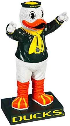 Team Sports America NCAA University of Oregon Fun Colorful Mascot Statue 12 Inches Tall