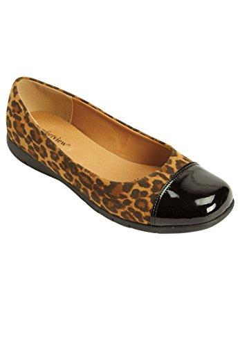 Comfortview Amplia Mujer Fay Ballet Plana Leopardo