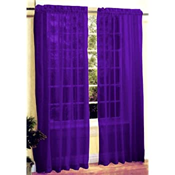 Amazon Com New 2 Pc Sexy Sheer Voile Window Curtain Panel
