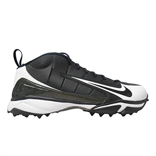 Nike Air Speed Destroyer 5//8 Football//Lacrosse Turf Shoes ~ Black//White ~Size 17