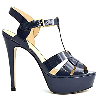 Chic Shoes Blue Heel Sandal For Women