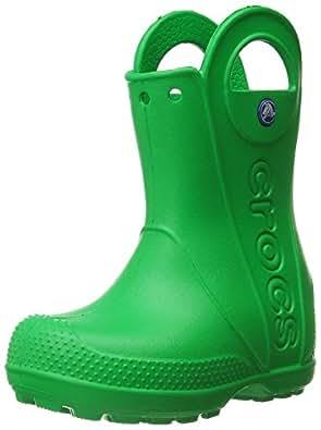 Crocs Kids' Handle It Boot,Grass Green,2 M US Little Kid