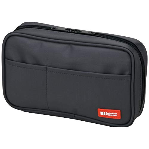 - LIHIT LAB Pen Case, 7.9 x 2 x 4.7 inches, Black (A7551-24)