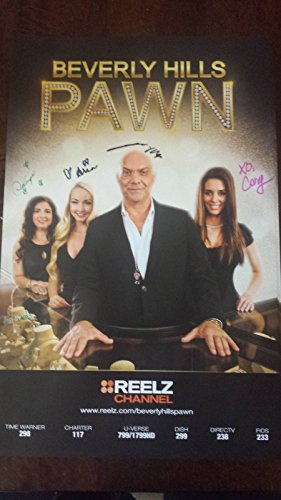 BEVERLY HILLS PAWN CAST POSTER SIGNED BY ALL 4 DOMINIQUE YOSSI CORY ARIA - Hills Card Shop Beverly