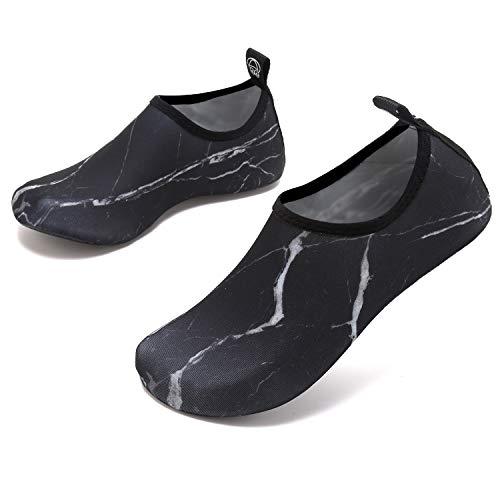 Vifuur Per Aqua Sport dry Marble Slip Yoga Uomo Bambino Barefoot Da Slip on Donna Acquatici Black Quick Scarpe rAqU7wr