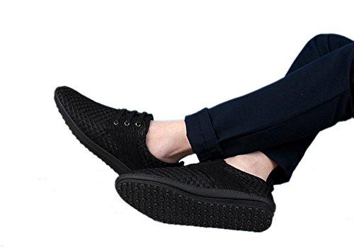 Bininbox Mens Mesh Respirant Lacer Casual Chaussures De Sport Sneakers Noir