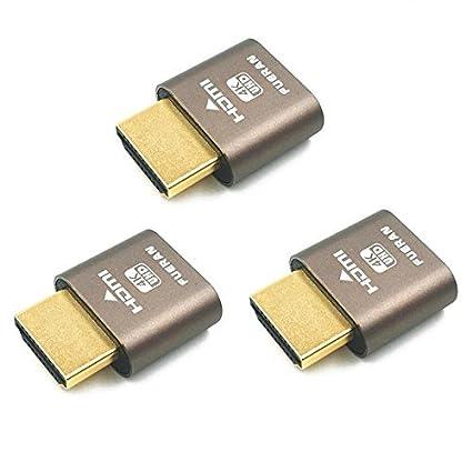 Amazon com: YIKESHU, HDMI DDC EDID Ghost Plug Emulator Plug