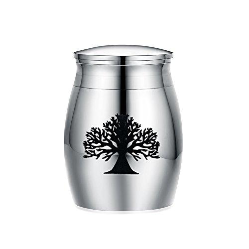 Nature Jar Urn - Sunling Tree of Life Small Decorative Memorial Keepsake Cremation Urns Jar for Human Pet Ashes-Waterproof,Keep Love Forever