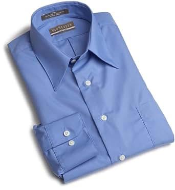 Van Heusen Men's Long Sleeve Wrinkle Free Poplin Solid Shirt, Cameo Blue, 15.5 - 32/33