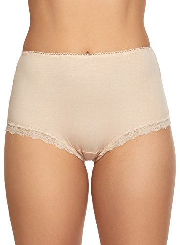 (Hanky Panky Women's Cotton Shirred Back Panty Chai Medium)