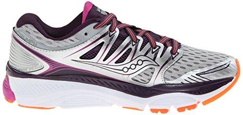 Pictures of Saucony Women's Triumph ISO Running Shoe Silver/Purple/Orange 3