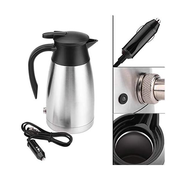 41cnV22slRL Wasserkocher 1000ML Auto LKW 12V/24V Wasserkocher Edelstahl Elektrische Heizung Wasserflasche Schnell kochendes Wasser…