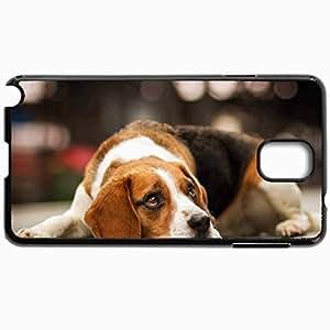 Fashion Unique Design Protective Cellphone Back Cover Case For Samsung GalaxyNote 3 Case Dogs Face Sad Sight Black