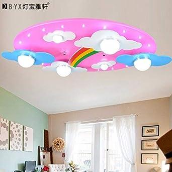 Hot Room Blue Clouds Pink Rainbow Kids Iluminación LED Lámpara de ...