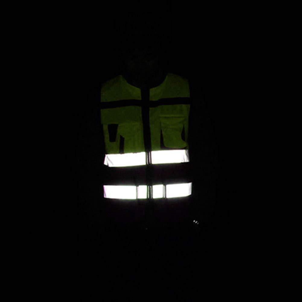 Mingrn Warnweste Reflektierend Fahren Jacke Nacht Sicherheit Weste mit Taschen L
