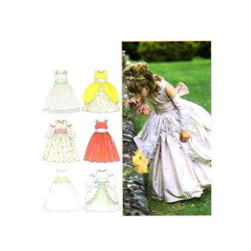Simplicity 8953 Sewing Pattern Girls Dress Medieval Renaissance Cinderella Flower Girl Size 4 - 5 - 6 - 7 - 8