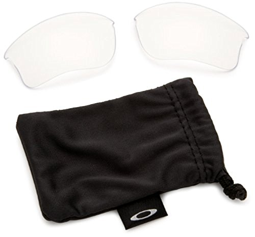 Oakley Flak Jacket XLJ Replacement Lenses Clear & Cleaning Kit - Flak Clear Oakley Jacket