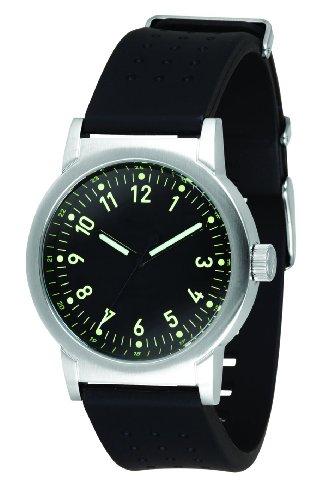 Vestal Men's ALPU007 Alpha Bravo Rubber Silver With Black Polyurethane Watch