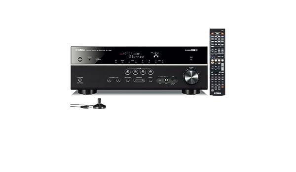 Yamaha RX-V573 7.1channels 3D Negro - Receptor AV (7.1 canales, 115 W, 130 W, 0,9%, 24-bit/192kHz, 945 W): Amazon.es: Electrónica