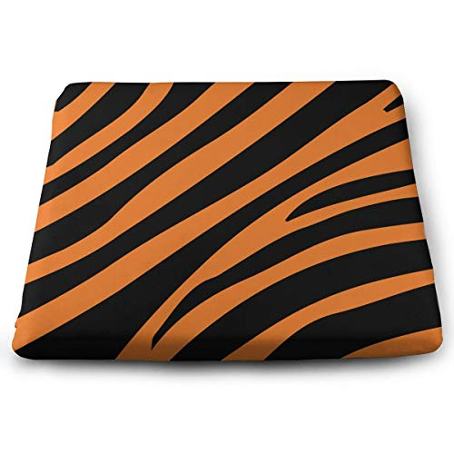 Comfortable Seat Cushion Chair Pad Tiger Skin Pattern Perfect Memory Foam Cushions Lighten The Bumps
