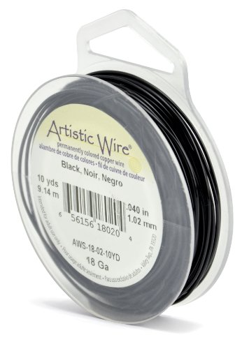 Artistic Wire 18-Gauge Black Wire, 10-Yards