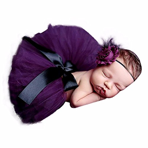 YJM Cute Newborn Baby Girls Boys Costume Photography Prop Clothes (Purple) (Cute Baby Costumes For Girls)
