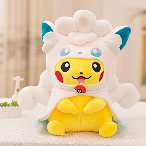 PampasSK Stuffed & Plush Animals - Pocket Monster Anime Pikachu Cosplay Plush Toys Cute Plush Toys Children's Gift Toy Kids Cartoon Peluche Pikachu Plush Doll 1 -