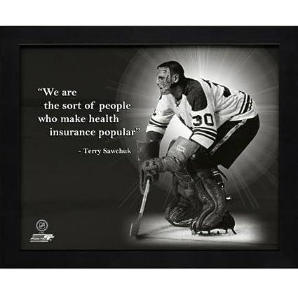 Terry Sawchuk Hockey Goalie Framed 11x14 QuotPro