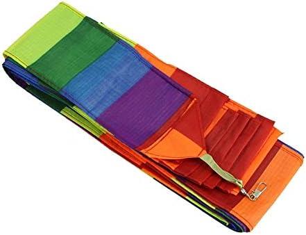 Cometa para niños Super Nylon Stunt Kite Tail Rainbow Line Kite Accesorio Juguete para niños