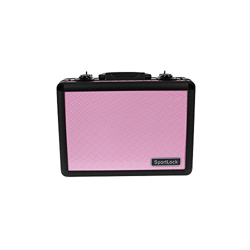 SportLock Cases AlumaLock Double Handgun Case, Pink, Small