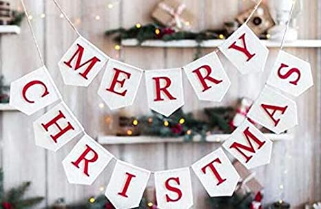 Christmas Banner,Christmas Decor,Christmas GarlandBunting,Truck /& Tree Banner,Christmas Sign,Rustic Christmas Decor,Christmas Burlap Banner
