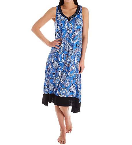 ELLEN TRACY Sleeveless Midi Gown with Soft Bra (8221423) M/Medallion Paisley