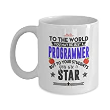 Programmer Mug Gifts Coffee Mug for programmers Gifts For Men, Woman, Friends -Birthday, Christmas Gifts 11Oz Ceramic White By AZMugs h57