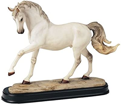 StealStreet SS-G-11434 Horses Collection White Horse Figurine Decoration Decor Collectible
