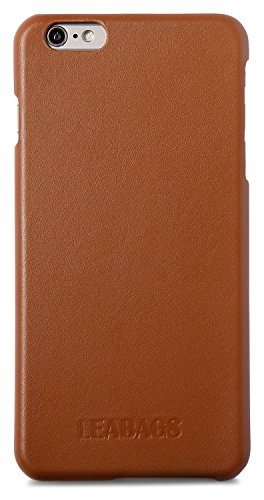LEABAGS Cupertino iPhone 6/ 6s genuine calf leather cover in vintage style - Cognac
